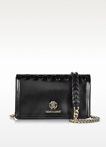 Roberto Cavalli Black Leather Clutch