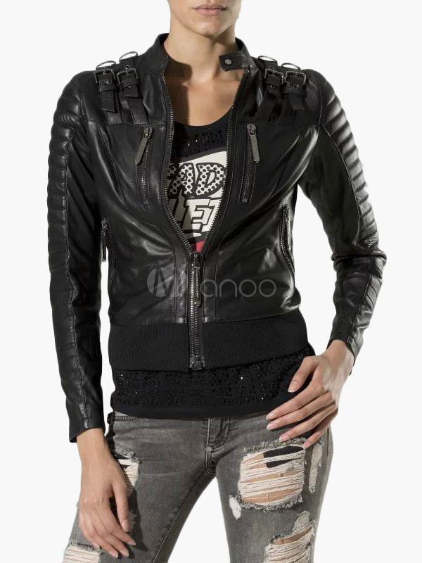 Biker Jacket in PU Leather