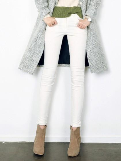 White Basic Skinny Jeans