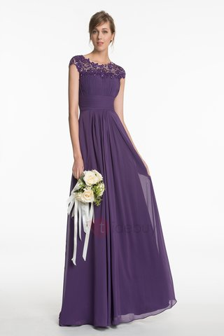 Fancy Cap Sleeves Long Bridesmaid Dress