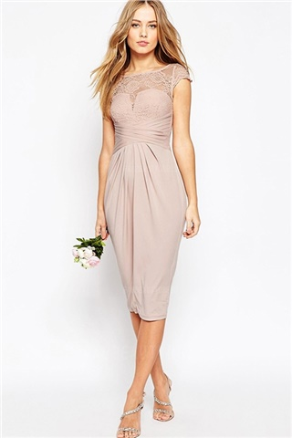 Jersey Lace Bridesmaids Dress